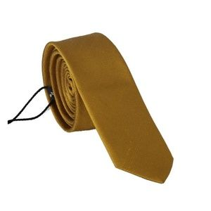 Dolce&Gabbana D203 Yellow Silk Solid Slim Tie